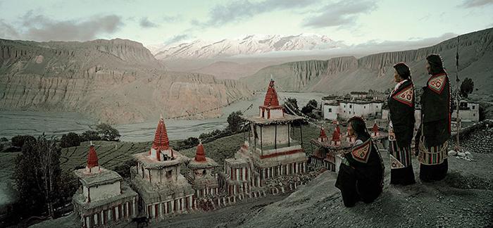 Поселок Ангге, Непал.